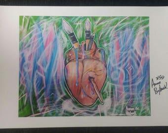 """Art Print, """"art heart"""" ,le/50"""