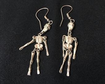 Day of the Dead dangle skeleton earrings