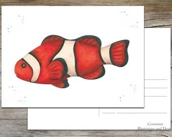 "postcard ""Clownfish"" limited edition"