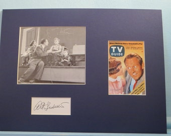 """TV Host - Art Linkletter - """"Kids Say the Darnest Things"""" on TV Guide Cover and his own autograph"""