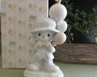 Precious Moments I Get a Bang Out of You Figurine Vessel Symbol 1991 Clown Series Collectible Figures Retired Nursery or Home Decor