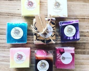 x3 Soap Sample Treats, 30-60g each, sample Soaps, Soap Gift, Vegan Gift, Vegan Soap Gift, SLS & Paraben free, Handmade Soap, Gentle