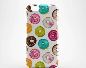 Donuts Hard case 3D case Apple iPhone 4 5 6 7 Samsung Galaxy S6 S7  #255