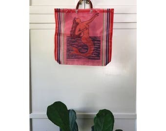 mermaid market mag/mexican market bag/market bags/farmers market bag/mexican style/mexican bag/mexican grocery bag