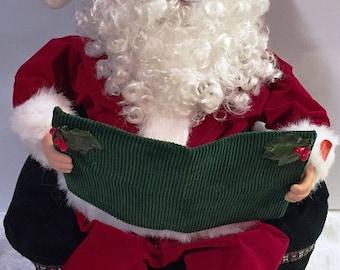 Vintage Animated Santa Storyteller The Night Before Christmas 1990's Mint