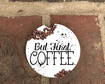 Coaster Coffee Absorbent Stone car coasters/recliner coasters (set of 2)