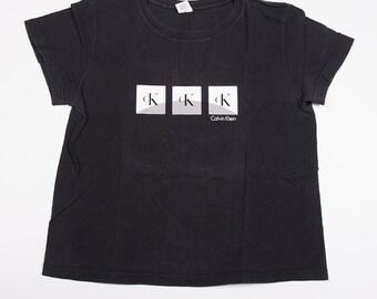 Vintage Calvin Klein CK Short Sleeved Logo 90s Tshirt