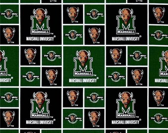 Marshall University fabric, The Herd fabric, Marshall fabric, Herd dfabric, Marshall University, Marshall cotton fabric