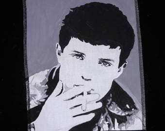 Ian Curtis Joy Division handpaint to order post punk goth  a4 sew on patch