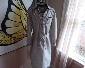 "Vintage Striped Shirtdress ""Schrader Sport Petities"""