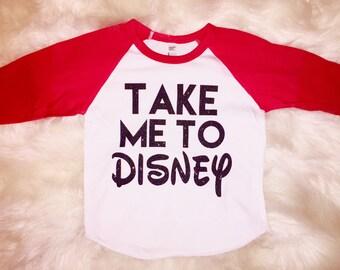 Take Me to Disney Raglan