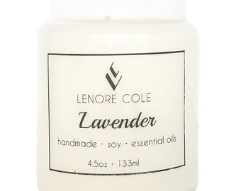 CLEARANCE Lavender Small Jar Candle, Soy Candle, 4.5 oz