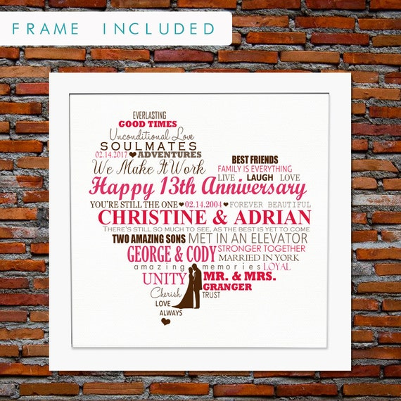 13th Wedding Anniversary Gift Ideas For Her: 13th Anniversary Gift 13 Years Anniversary Gift 13 Years Of