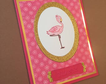 Custom Flamingo Thank You Cards- Free Shipping!