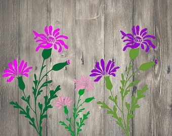 Red Campion Wild Flower  STENCIL A5,A4,A3,A2,A1,A0 Tattoo StyleTough Reusable 350 Micron Material Various Sizes  #FL010