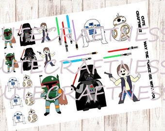 Galaxy Star wars planner stickers