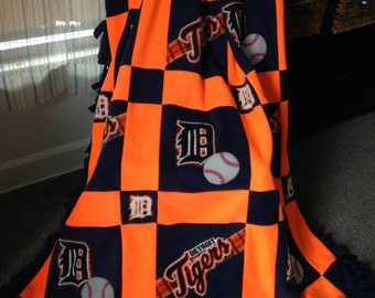 DETROIT TIGERS Baseball Fleece Blanket
