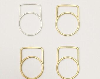 Medium Square Stacking Ring