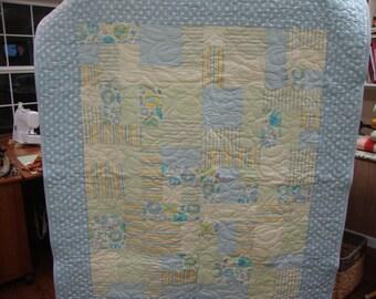 Baby Boy Blue & Green Quilt