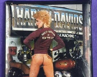 Harley-Davidson Original 1980s Vintage Dead Stock Square Pin