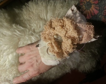 Wrist cuff, arm cuff, victorian, shabby chic, gypsy, boho,