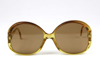 Ladies Oversized Sunglasses, ZEISS Made in Germany // Large Retro Fashion Eyewear // Mid Century DeadStock Accessories