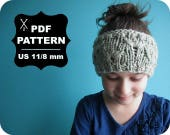 English-French Two Needle KNITTING PATTERN / Digital Download / #36 / Knitted Headband / 3-4 years to 5 years-Adult / US11 / 8mm