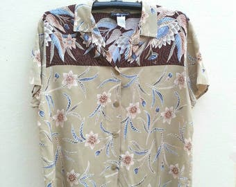 Vintage Hawaiian Shirt  Size Large