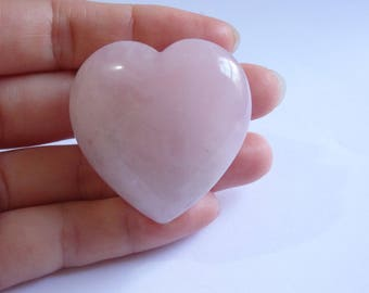 large rose quartz crystal heart pink gemstone natural stone rock healing meditation love relationship gift peace Chakra