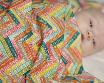 Barn Board Baby Blanket, Organic Baby Shower Gift for Baby Boy or Baby Girl, Gender Neutral Baby Blanket, Car Seat Blanket, Stroller Blanket