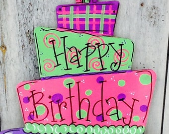 Birthday door hanger, birthday door sign, birthday countdown sign, happy birthday sign, cupcake sign, cupcake door sign, cupcake door hanger