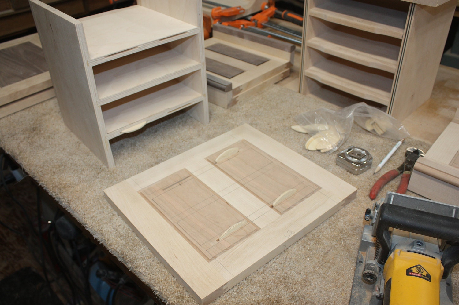 Biscuit Joint Back Raised Panel onto Box