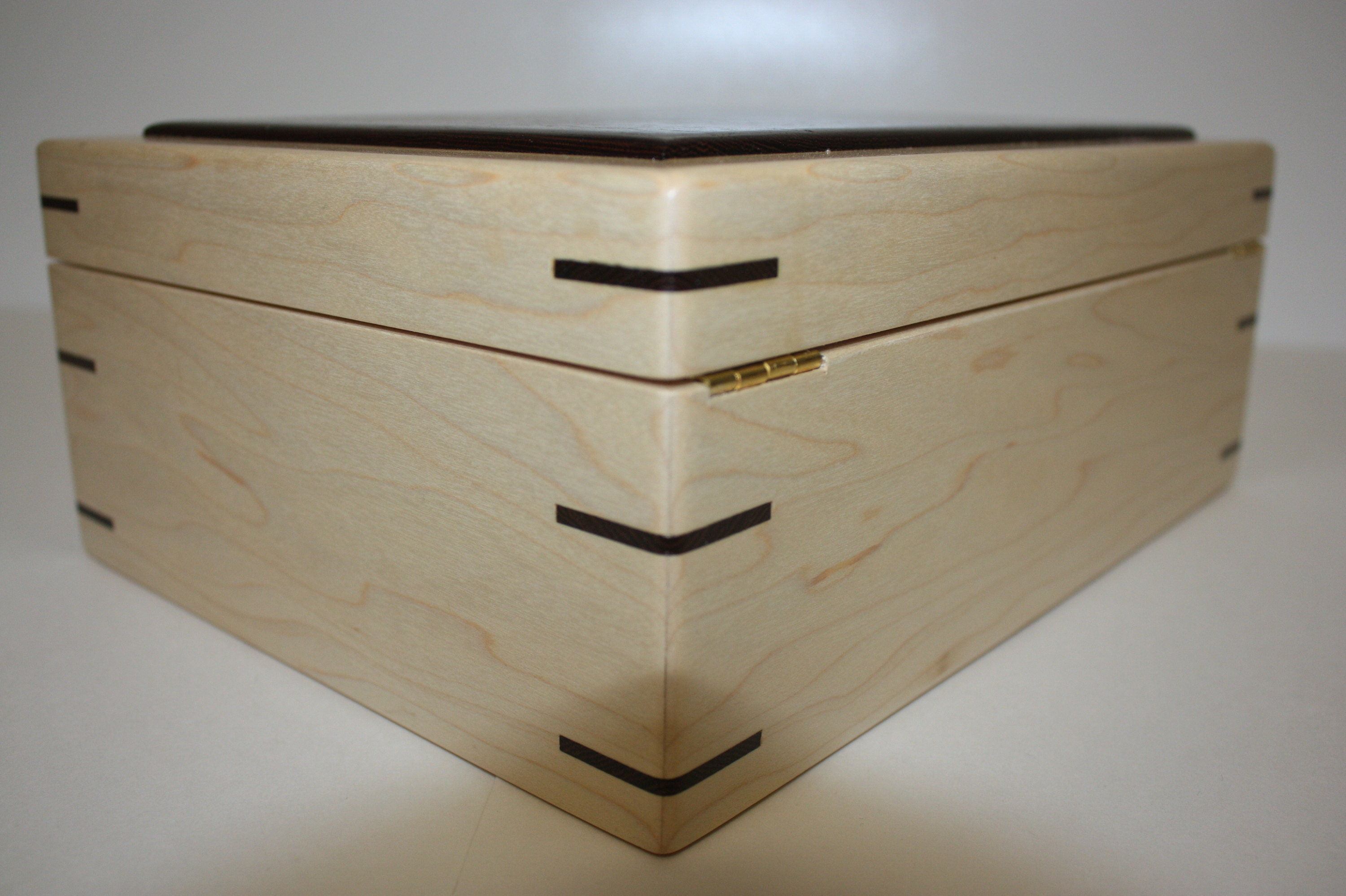 Handcrafted Hinged Wood Box for sale