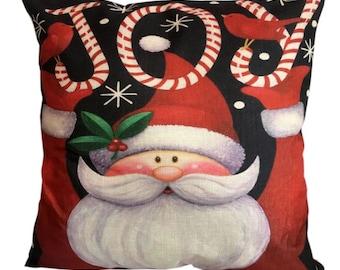 Santa JOY Christmas - Pillow Cover