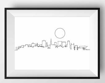 Antwerp Skyline, Antwerp art, Antwerp print, Antwerp poster, Antwerp, Antwerp gift, Antwerp artwork, Antwerp Belgium, Antwerp Illustration
