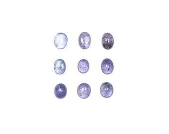 Tanzanite Oval Cabochons - Loose Tanzanite - Oval Tanzanite - Tanzanite Stones - Polished Tanzanite - Natural Tanzanite - Loose Gemstones