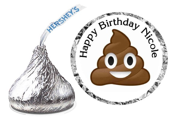 Emoji Poop Hershey Kiss Stickers