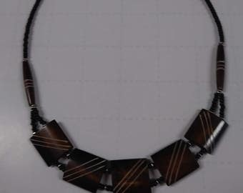 Brown Cow Bone shoker necklace