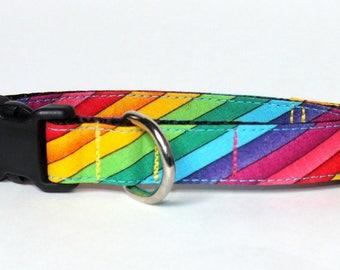 SALE PRE-MADE Rainbow Dog Collar
