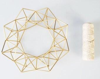 Himmeli couronne géométrique style scandinave ( fait à la main à Paris ) Doré