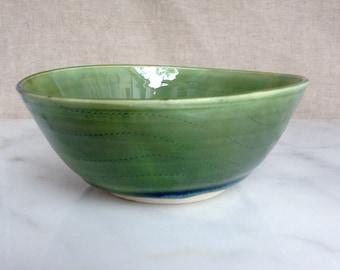 green/blue porcelain bowl