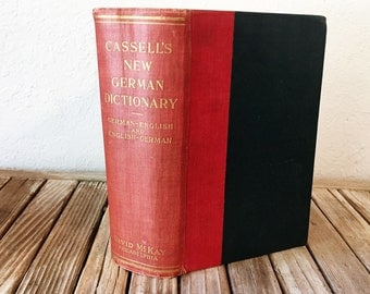 Vintage BookTitled Cassell's New German and English Dictionary