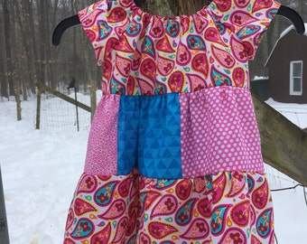 Size 18 months Dress in pinks and blues