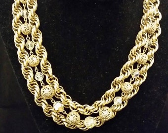 Vintage Marino multi chain necklace