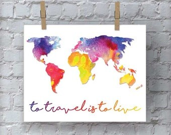 Travel Wall Art, Printable Wall Art, Wall Decor, Wall Hanging, Art, Digital Download, Instant Download, Wanderlust Sign, Travel Decor