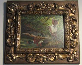 Lovely oil painting on panel, Jef Van Leemputten, Belgium; 1865-1948