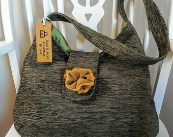 Slouchy hobo shoulder bag