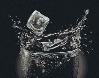 Iced Glass Pixels Mosaic