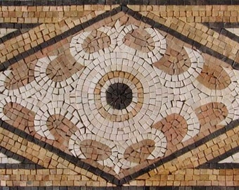 Rectangular Marble Mosaic Accent - Talia