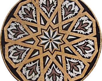 Geometric Mosaic Pattern - Durrah Ivory